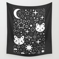kittens Wall Tapestries featuring Alchemical Star Kittens by Carly Watts