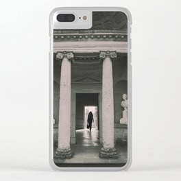Black and white Mansion Folly Clear iPhone Case