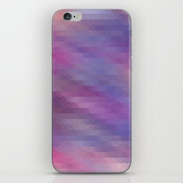 Washed Out Geometric: Purple, Blue, Peach and White iPhone Skin