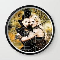 swan queen Wall Clocks featuring Swan Queen II by Geek World