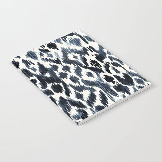 Indigo Ikat Leopard Notebook