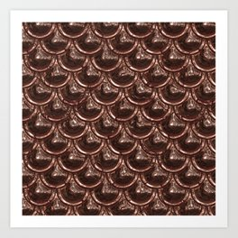 Precious Shimmering Copper Scales Art Print