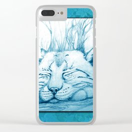 Bobcat nap Clear iPhone Case