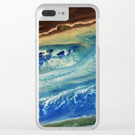 Earth Fractals Clear iPhone Case