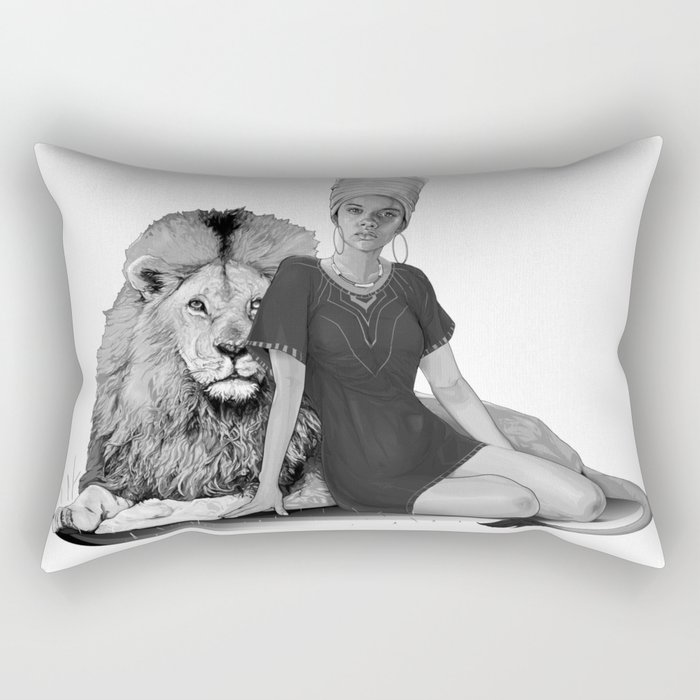 Lion Queen Rectangular Pillow