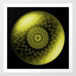 Solar Plexus Yellow Chakra Art Print