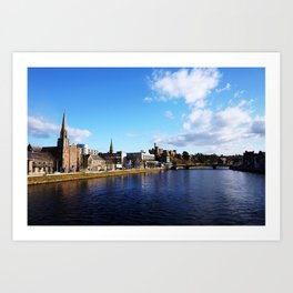 On The Bridge - Inverness - Scotland Art Print