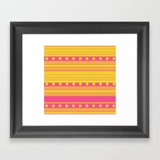 Pink and Gold Framed Art Print