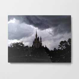 Ominous Disney World Number Three - The Castle Metal Print