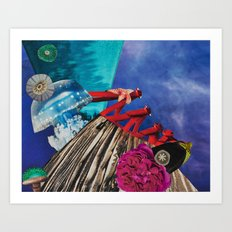 Overlaps and Undercurrents Moving within the Unknown Art Print