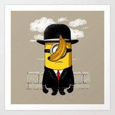 Magritte banana Art Print