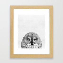 Owl, Woodland, Bird, Animal, ZOO, Nursery, Minimal, Modern, Wall art Framed Art Print