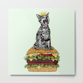 Cat Burger Metal Print