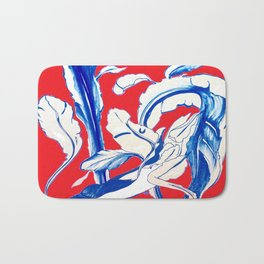 Plant in Blue Marker - Leaf of Life Miracle Leaf - RED Bath Mat