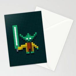 Yoda by Qixel Stationery Cards