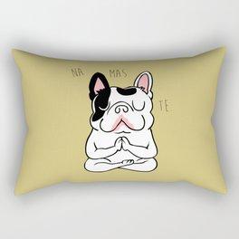 Namaste French Bulldog Rectangular Pillow