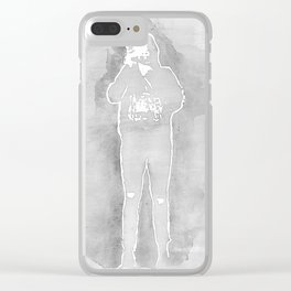 Harry Styles gray Clear iPhone Case