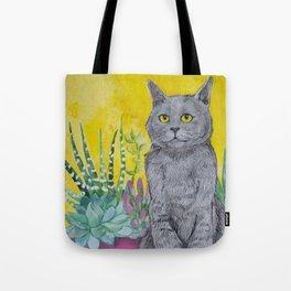Cactus Cat Tote Bag