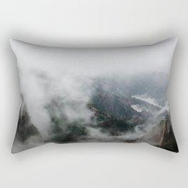The Misty Valley Rectangular Pillow