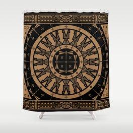 Ancestors (Black Brown) Shower Curtain