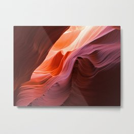 The Waves of Antelope Canyon Metal Print