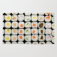 sushi Area & Throw Rugs featuring Sushi by Katieb1013