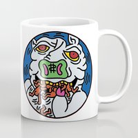 keith haring Mugs featuring Keith Haring Pig 1988  by cvrcak