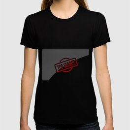 Top Secret Half Covered Ink Stamp T-shirt