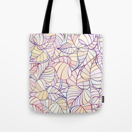 leafs color pattern Tote Bag