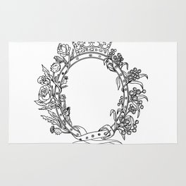 Celtic Belt With Rose and Thistle Drawing Rug
