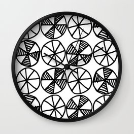 Cogs and Wheels Black and White Wall Clock