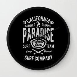 california paradise Wall Clock