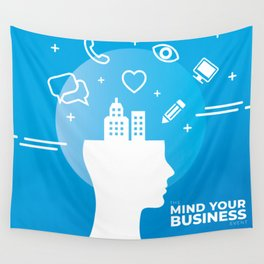 Mind Your Business HV Wall Tapestry