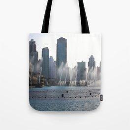 Dancing fountains, Dubai Tote Bag