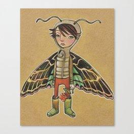 Moth Boy Canvas Print