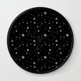 Stars and Swirls Wall Clock