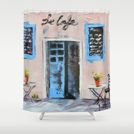 Le Cafe Shower Curtain