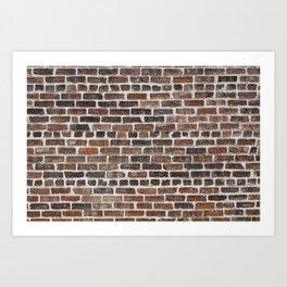 Old Brick Wall Art Print