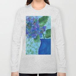 Cobalt Hydrangea Long Sleeve T-shirt