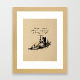 Wuthering Heights - Emily Bronte Framed Art Print