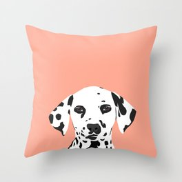 Casey - Dalmation art print phone case decor for pet lover and dog lover Throw Pillow