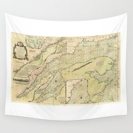 Map of the Saint Lawrence River (1771) Wall Tapestry