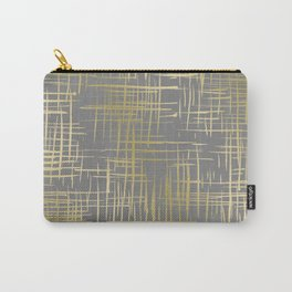 Crosshatch Grey Carry-All Pouch