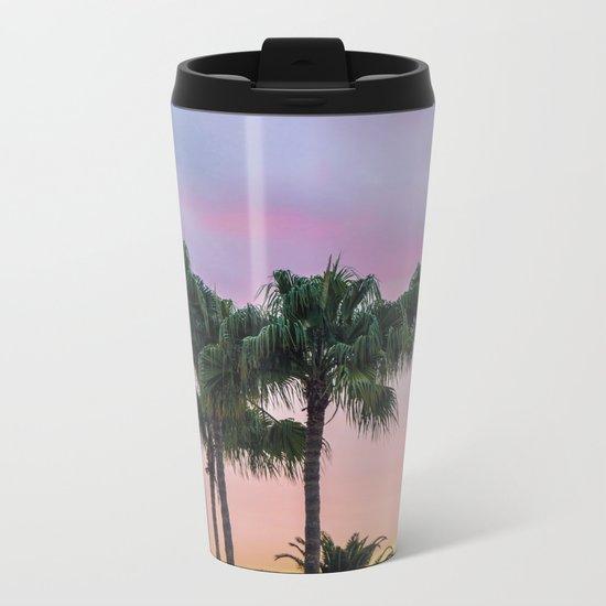 Island Paradise Palm Trees Metal Travel Mug
