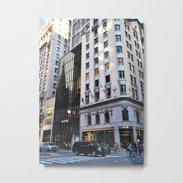 Colors. Fifth Avenue, New York. Metal Print