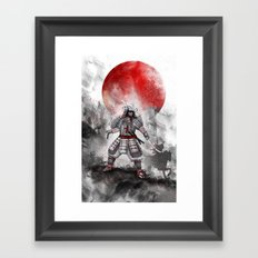 Banzai [The warrior on the hill] II Framed Art Print