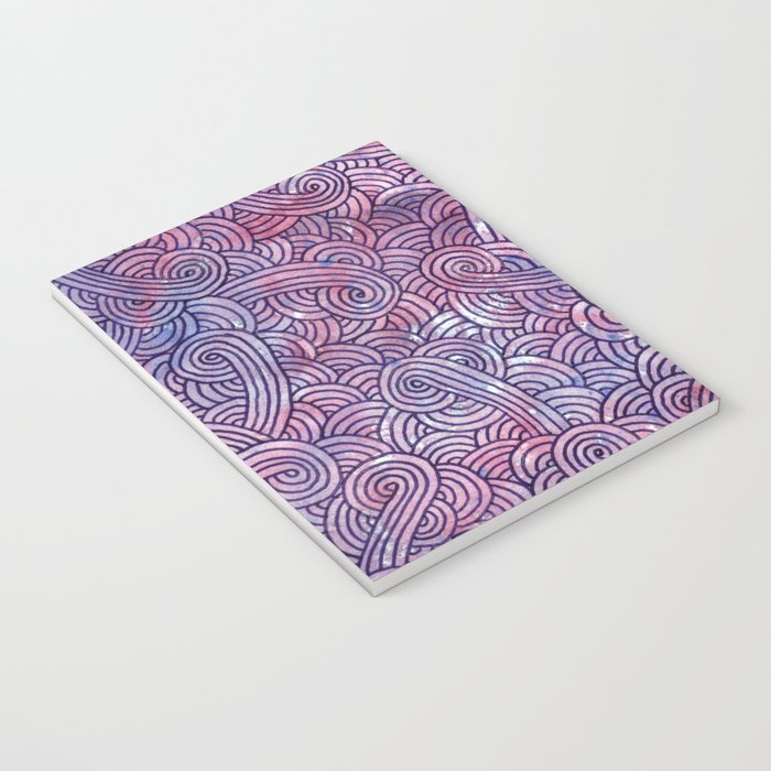 Purple swirls doodles Notebook