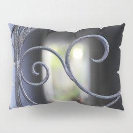 Charleston Blue Wrought Iron Pillow Sham