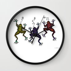 DANCING FROGS II Wall Clock