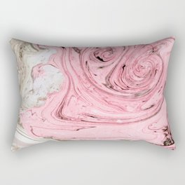 Nude+ Pink Marbling Art #society6 #decor #buyart Rectangular Pillow